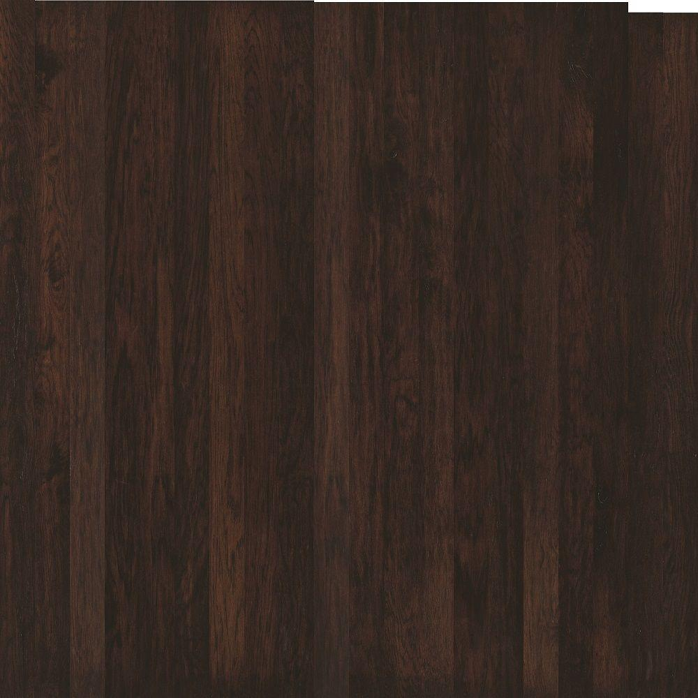 Shaw Take Home Sample - Subtle Scraped Ranch House Estate Hickory Engineered Hardwood Flooring - 5 in. x 7 in.