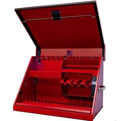 30 in. 0-Drawer Portable Workstation Top Chest in Textured Red