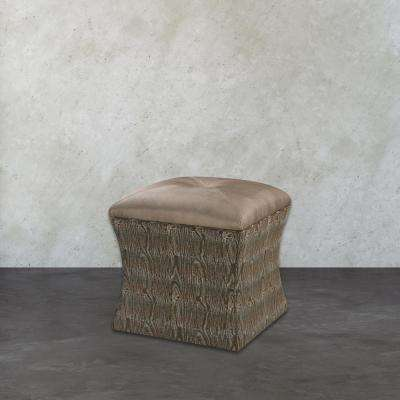 Luxe Green Accent Ottoman