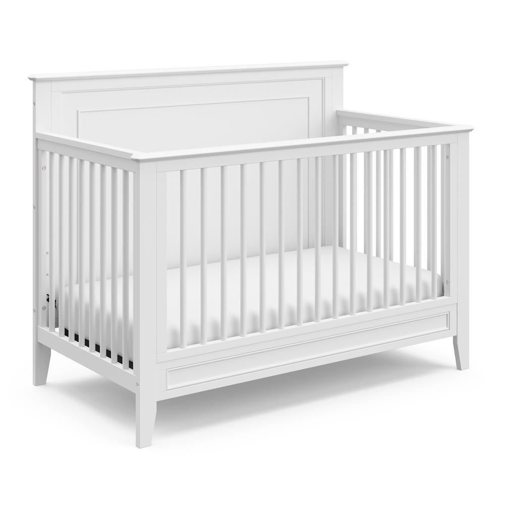 Solstice White 4-in-1 Convertible Crib