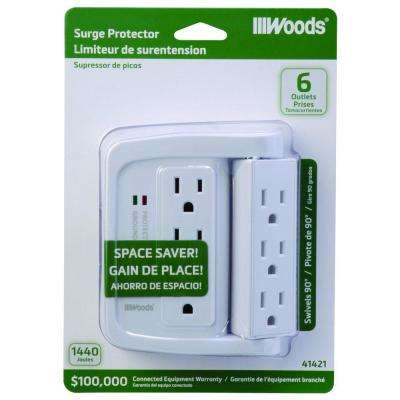6-Outlet Surge Tap with Phone Cradle