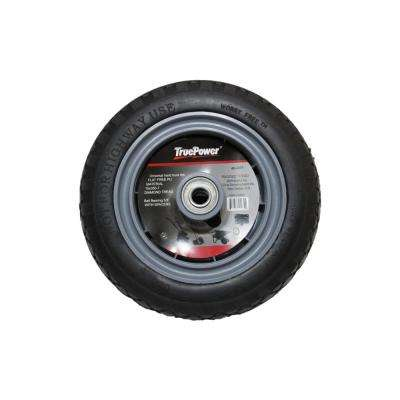 10 in. Flat Free Tire with Plastic Rim