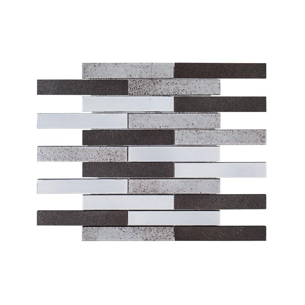 Jeffrey Court Volcanic Ridge 11.875 in. x 11.875 in. x 10 mm Basalt Mosaic Tile