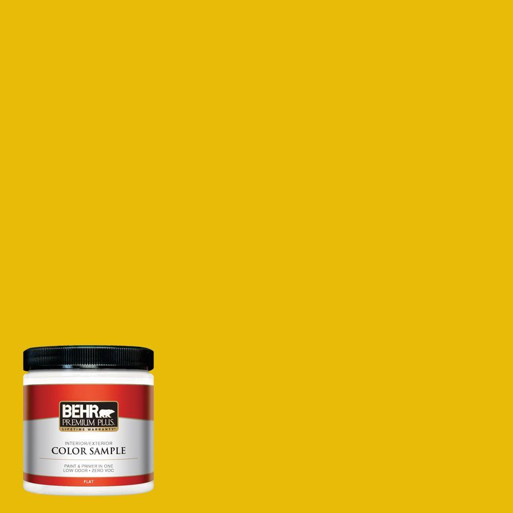 8 oz. #390B-7 Lemon Lime Interior/Exterior Paint Sample