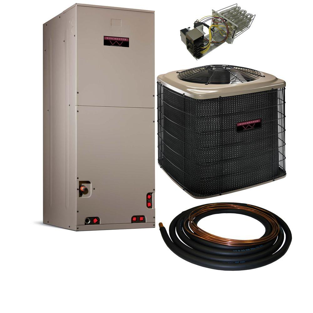 Winchester 2 Ton 13 SEER Multi-Positional Sweat Heat Pump Split System with Electric Furnace