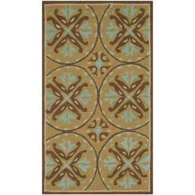 Four Seasons Green Brown 2 Ft X 4 Area Rug