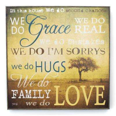 "21 In. W x 21 In. H ""We Do Grace"" by Penny Lane Framed Printed Wall Art"