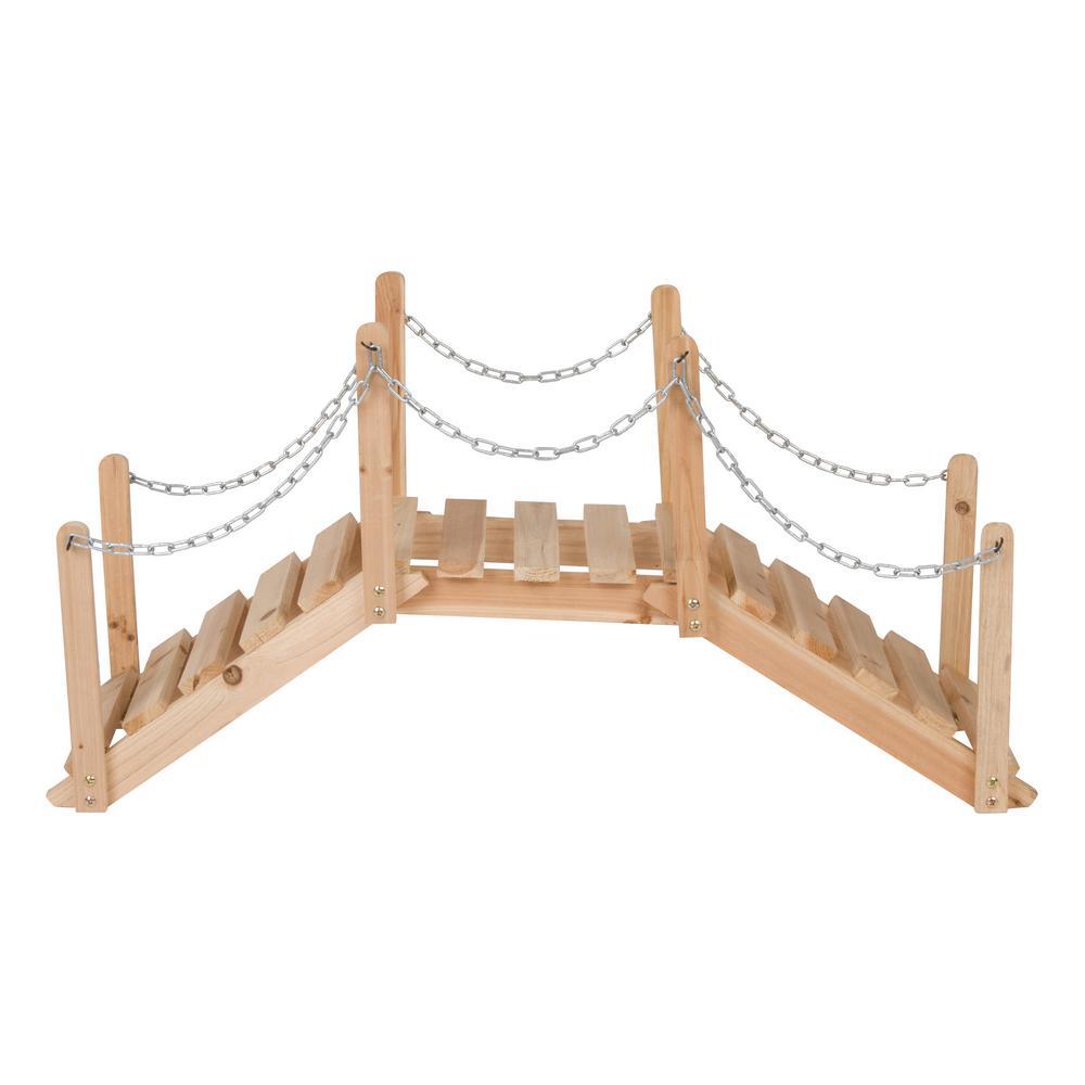 40 in. Natural Decorative Garden Bridge (Decorative Use Only)