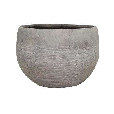 Unearthed 16 in. Dia Fiberglass Planter