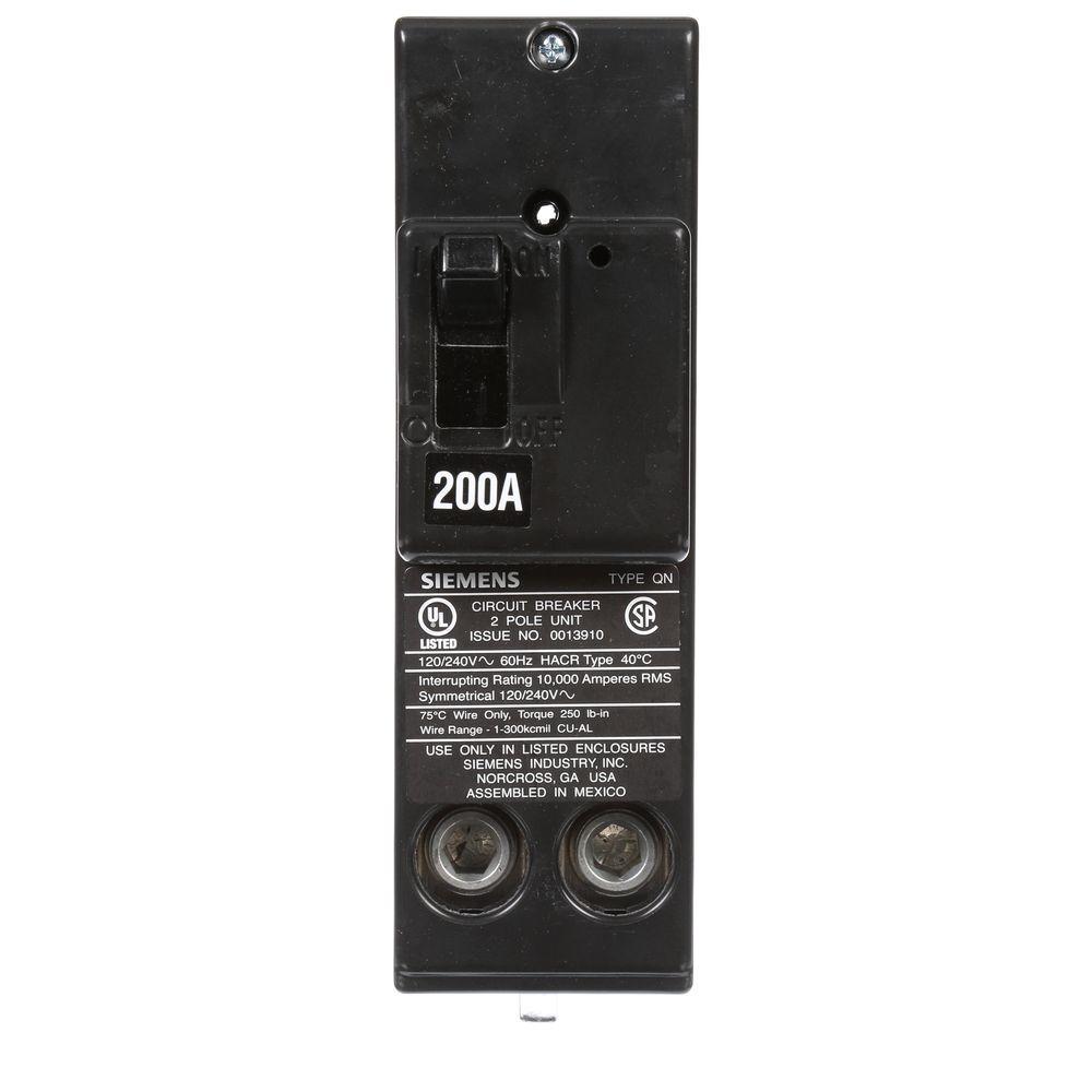 200 Amp Double-Pole 10 kA Type QN Circuit Breaker