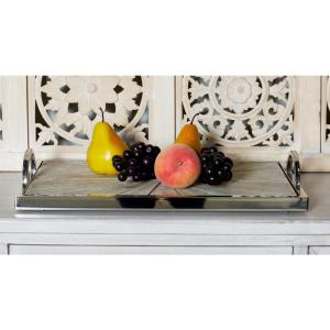 Click here to buy  Brown Decorative Trays with Silver Accents (Set of 2).