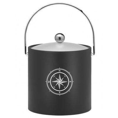 Kasualware Compass Point 3 Qt. Ice Bucket in Black