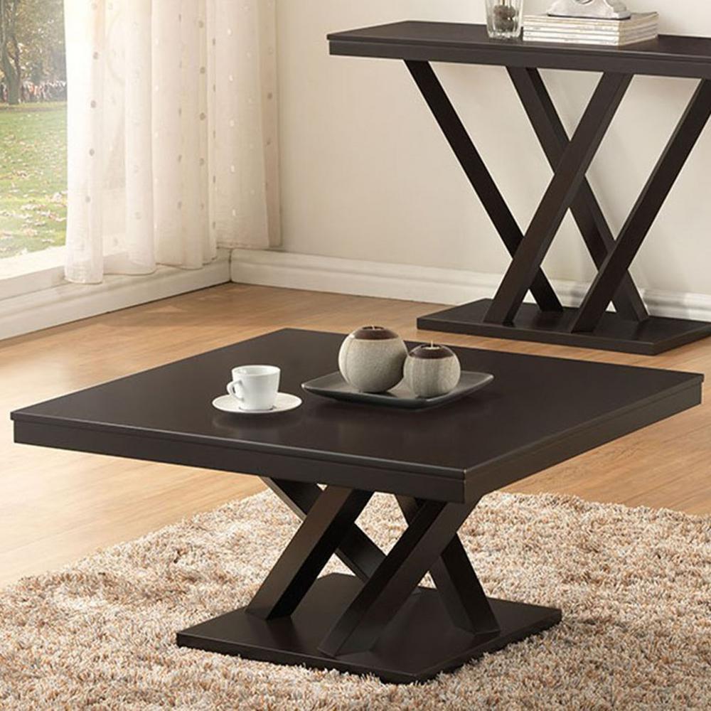 Baxton Studio Everdon Dark Brown Coffee Table by Baxton Studio