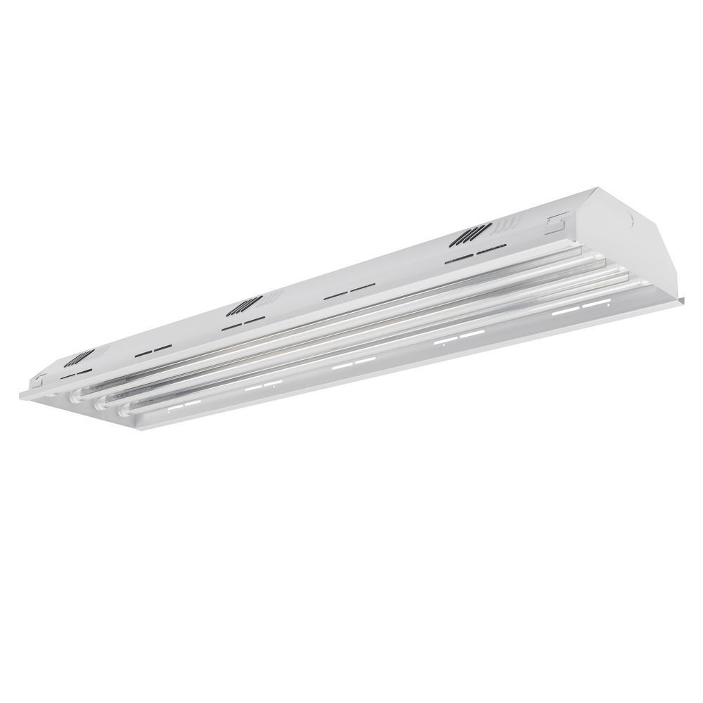 4 ft. 4-Light White LED High Bay 5000K (LED Tubes Included)