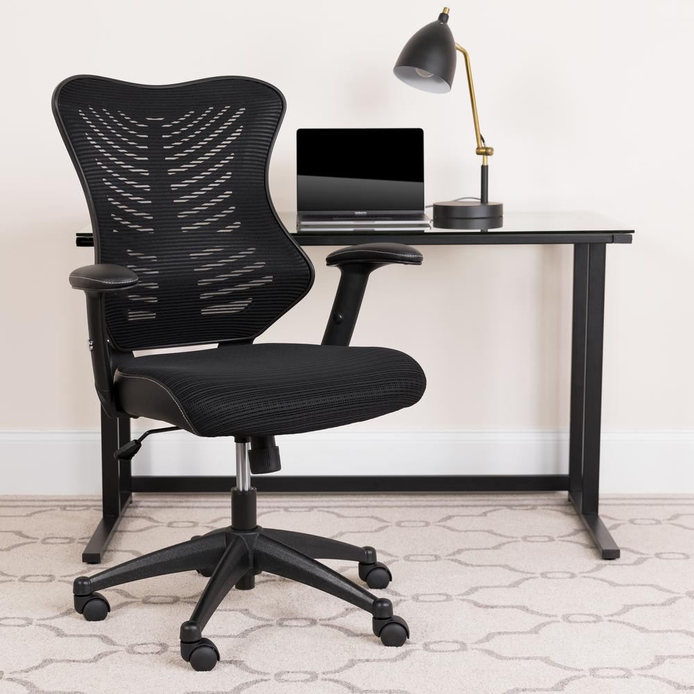 Flash Furniture Adjustable Drawing Table with Black Frame Office