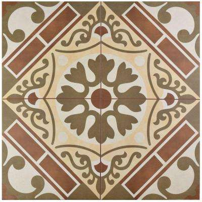 Evasion Rojo 17-5/8 in. x 17-5/8 in. Ceramic Floor and Wall Tile (11.1 sq. ft. / case)