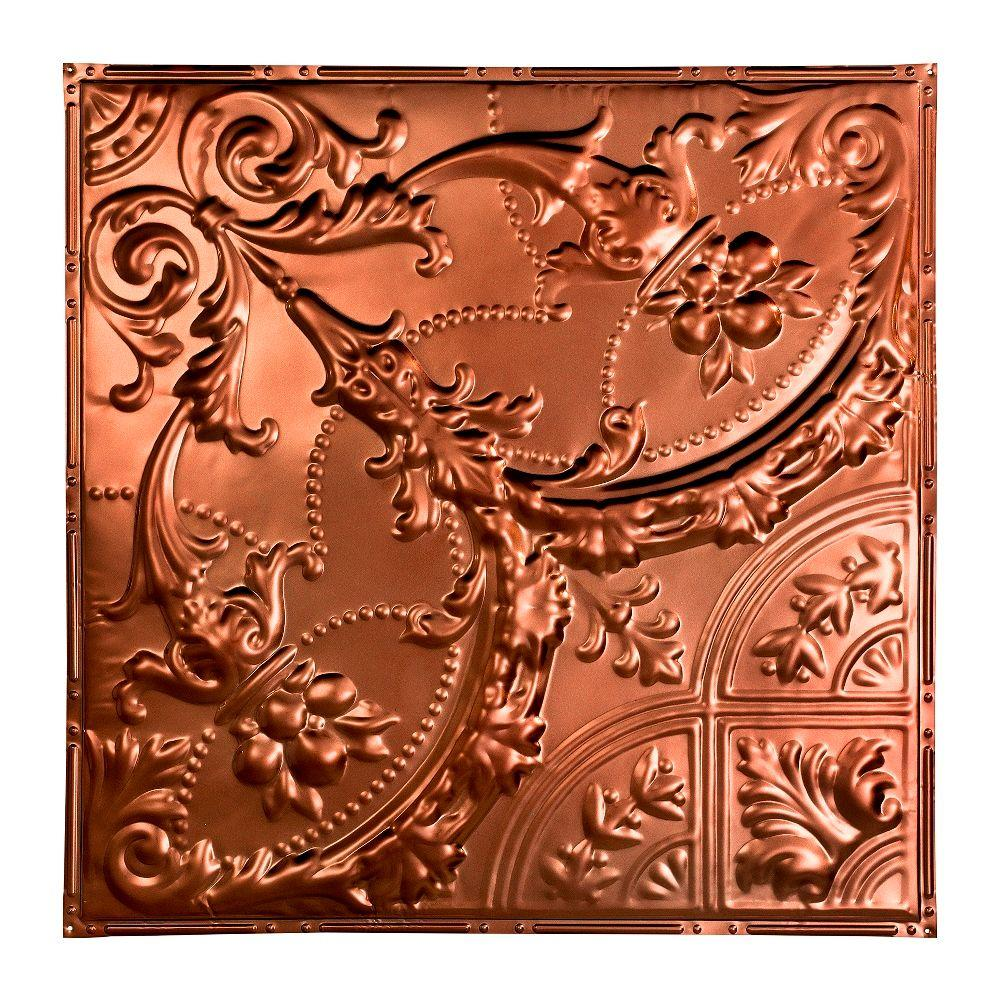 Great Lakes Tin Saginaw 2 Ft X 2 Ft Nail Up Metal Ceiling Tile In Vintage Bronze Case Of 5 T53 09 The Home Depot