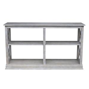 Brilliant Hampton Weathered Taupe Gray Console Table Ot09 70Sl The Pdpeps Interior Chair Design Pdpepsorg