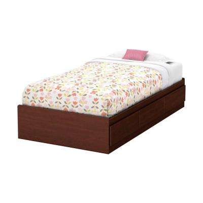 Summer Breeze 3-Drawer Royal Cherry Twin-Size Storage Bed