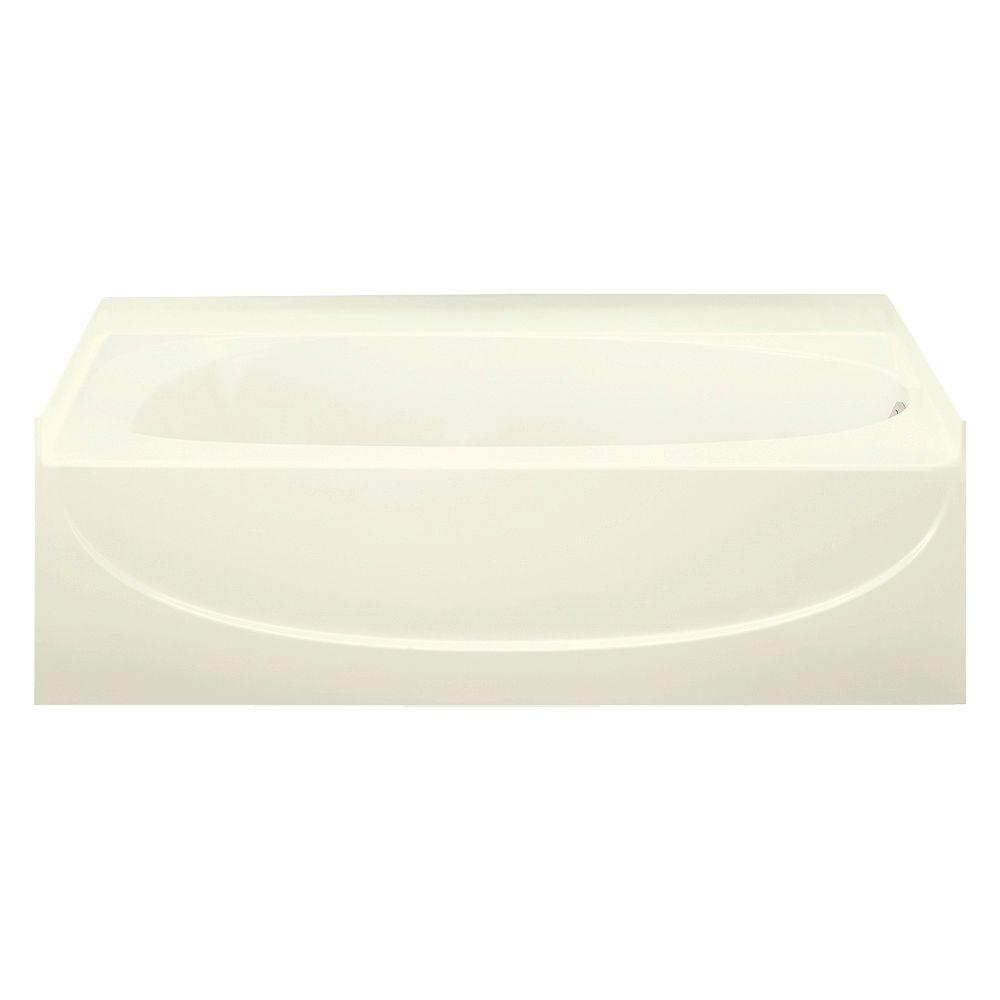 STERLING Acclaim 5 ft. Right Drain Rectangular Alcove Soaking Tub in Biscuit