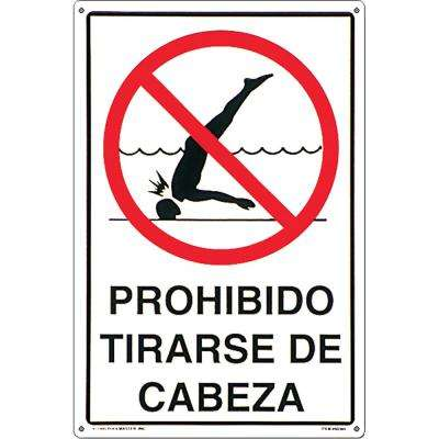 Residential or Commercial Swimming Pool Signs, Spanish Language Prohibido Tirarse