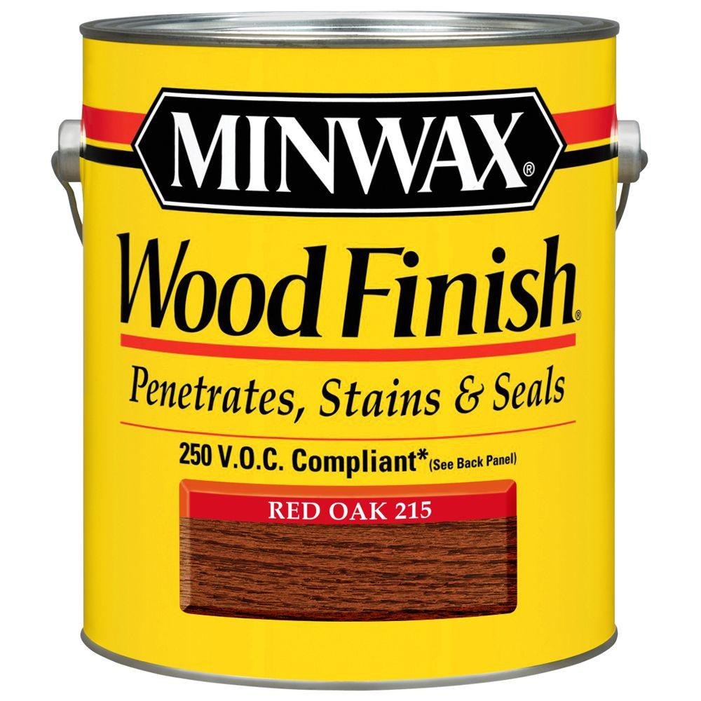 1 gal. Wood Finish Oak Oil Based Red Interior Stain 250
