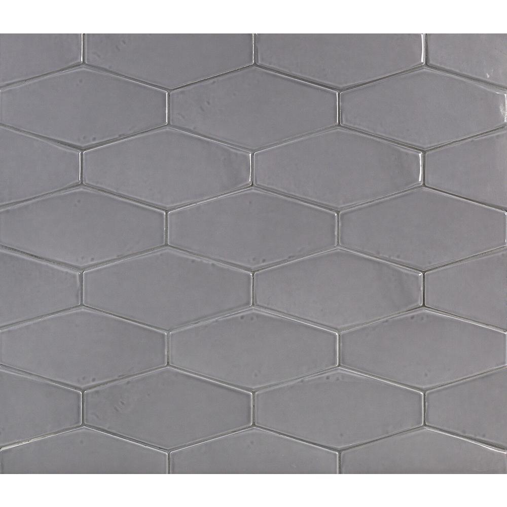 Splashback Tile Birmingham Hexagon Charcoal 4 In X 8 In 8mm