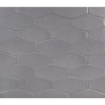 Birmingham Hexagon Charcoal 4 In X 8 8mm Polished Ceramic Subway Tile