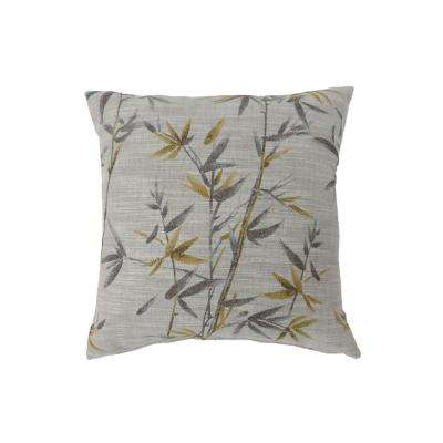 Anika 22 in. Contemporary Standard Throw Pillow in Yellow