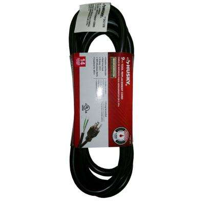 9 ft. 14/3 Medium-Duty Tool Replacement Cord in Black