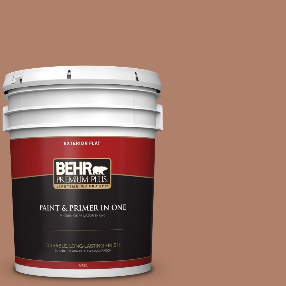 BEHR Premium Plus 5-gal. #S210-5 Cider Spice Flat Exterior Paint