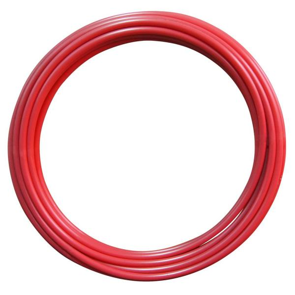 1/2 in. x 100 ft. Red PEX-A Pipe in Solid