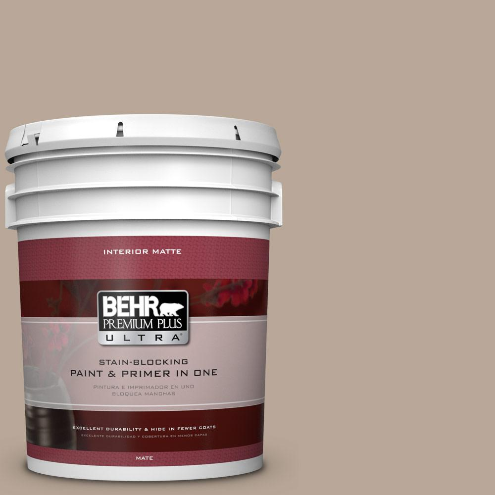 BEHR Premium Plus Ultra 5 gal. #BXC-43 Desert Sandstorm Matte Interior Paint