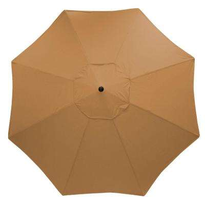 11 ft. Aluminum Market Patio Umbrella in Sunbrella Canvas Cork