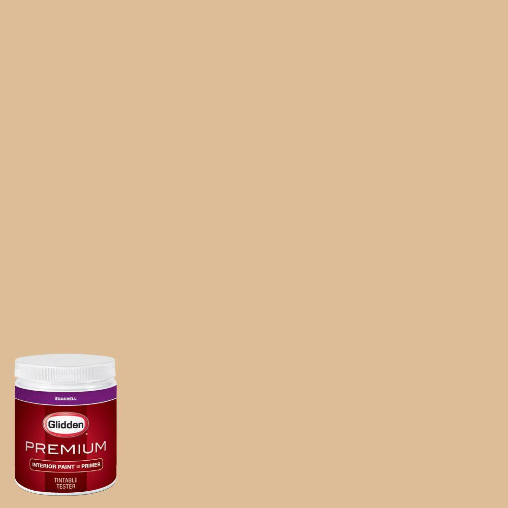Glidden Premium 8 Oz Hdgy11u Tuscan Tan Eggshell Interior Paint Sample With Primer Hdgy11up