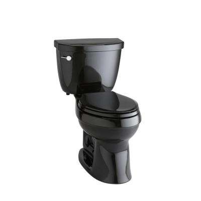 Cimarron Comfort Height 2-piece 1.6 GPF Single Flush Elongated Toilet with AquaPiston Flushing Technology in Black Black