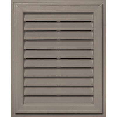 20 in. x 30 in. Brickmould Gable Vent in Clay