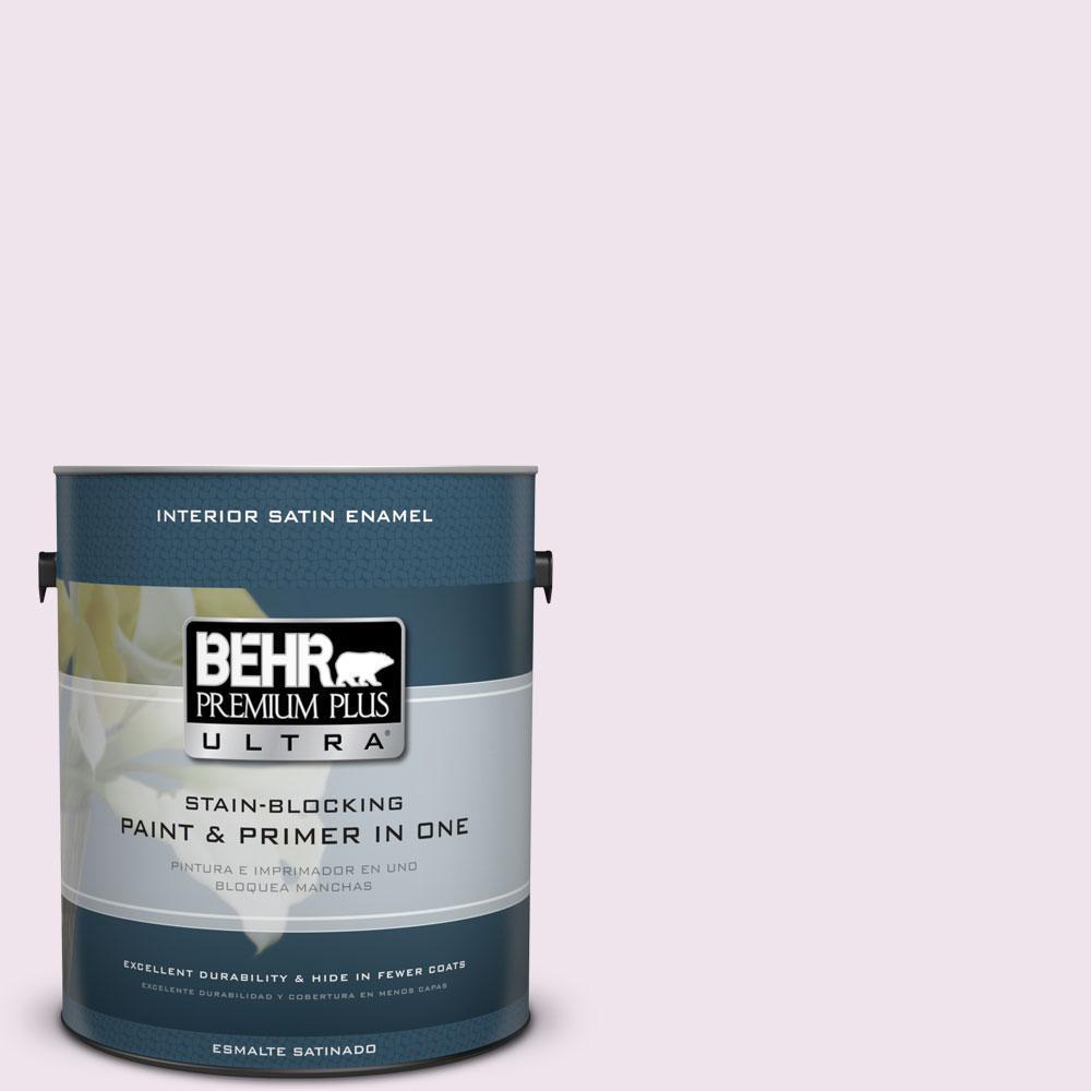 BEHR Premium Plus Ultra 1-gal. #670C-1 November Pink Satin Enamel Interior Paint