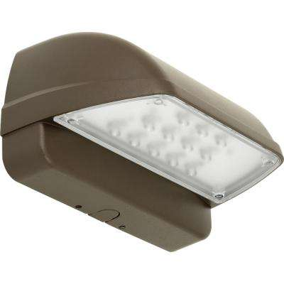 PCOWC Collection Metallic Gray Outdoor Integrated LED Wall Pack Light