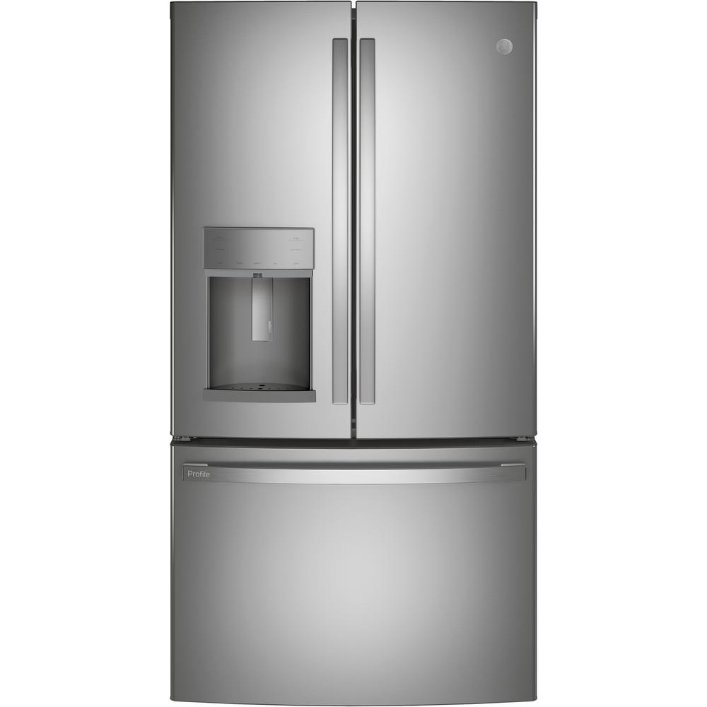 Profile 27.7 cu. ft. French Door Refrigerator with Autofill in Fingerprint Resistant Stainless Steel, ENERGY STAR PFE28KYNFS