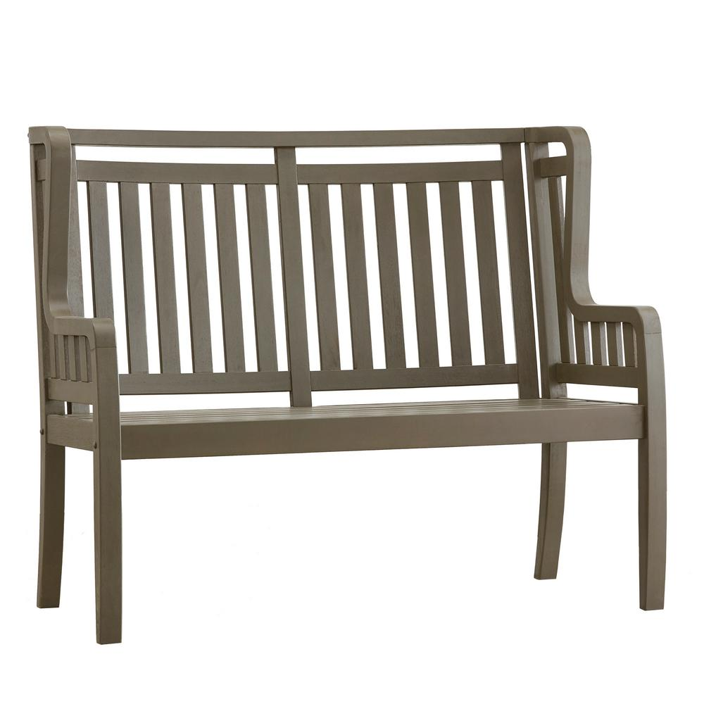 Verdon Gorge 45 in. Gray Wood Outdoor High Back Bench