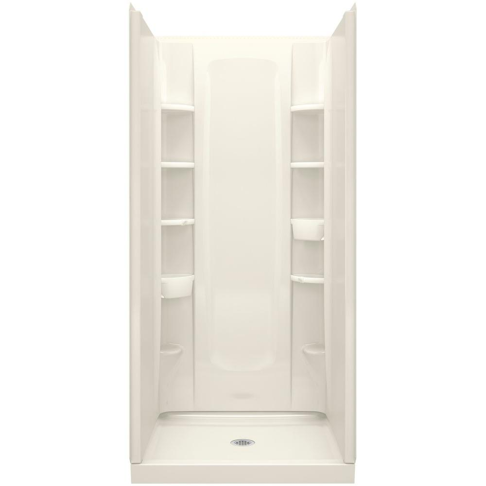 STERLING STORE+ 34 in. x 36 in. x 72-1/2 in. 4-Piece Shower Stall ...