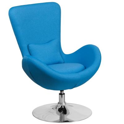 Aqua Fabric Egg Series Reception-Lounge-Side Chair