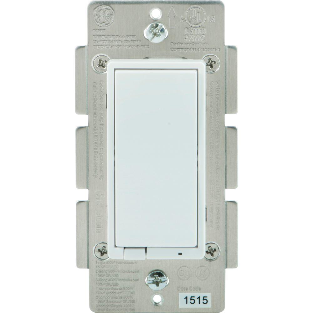 ge bluetooth in wall smart dimmer 13870 the home depot. Black Bedroom Furniture Sets. Home Design Ideas