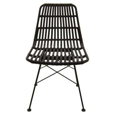 19 in. x 23 in. Black Metal/Plastic Chair