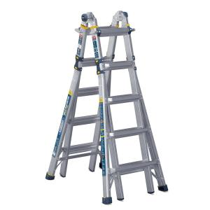 Werner 22-Feet Aluminum 5-in-1 Multi-Position Pro Ladder with Powerlite Rails
