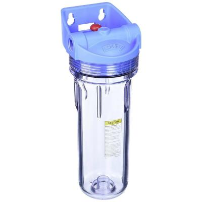 10 in. Clear Whole House Filter Housing Sump with Pressure Release Water Filtration System