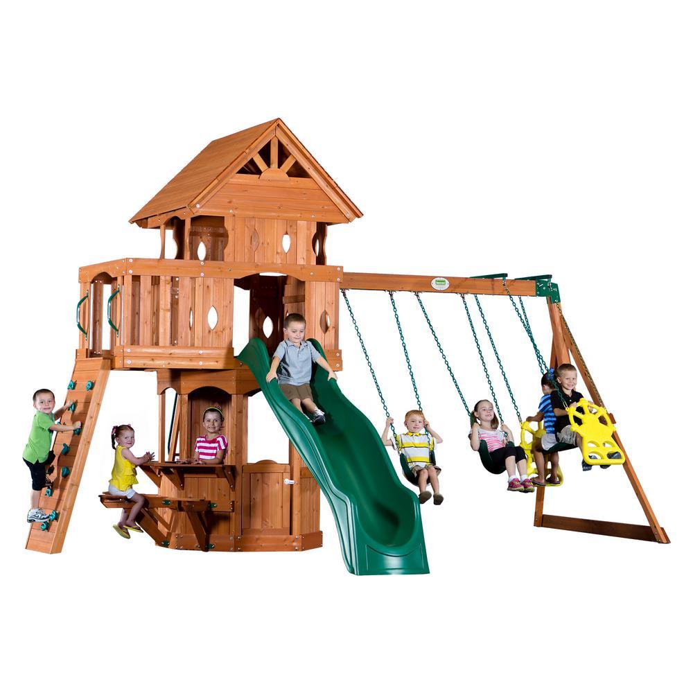 Backyard Discovery Shenandoah All Cedar Playset 65413com The Home