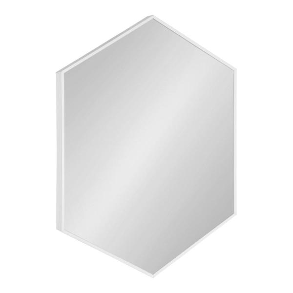 Medium Novelty White Contemporary Mirror (31 in. H x 22 in. W)