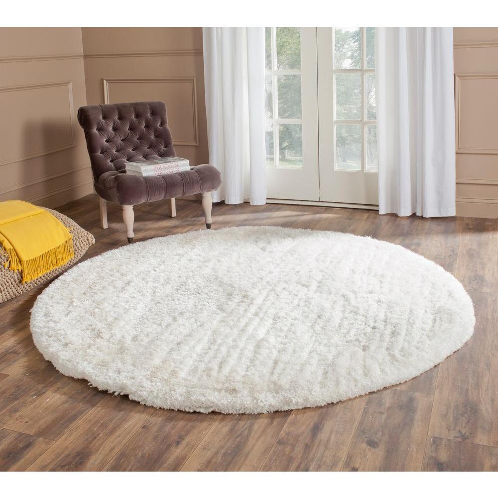 white round area rug. Safavieh South Beach Shag Snow White 6 Ft. X Round Area Rug M